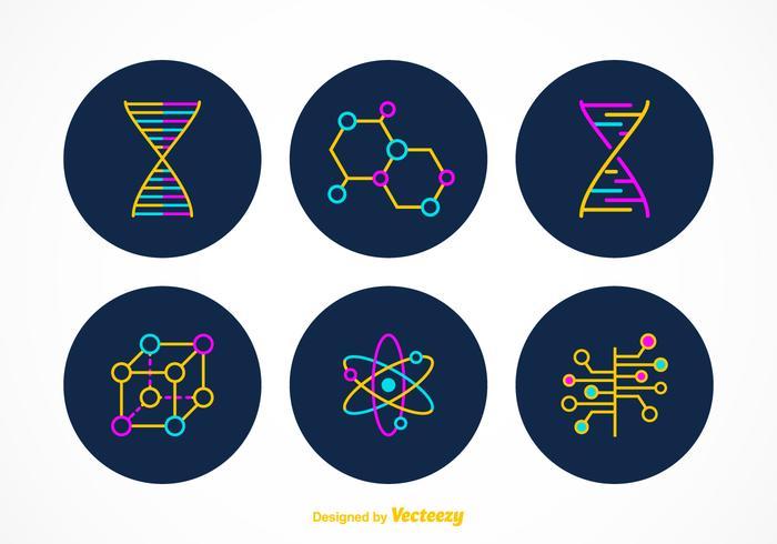 Gratis Nanotechnologie Vector Symbolen