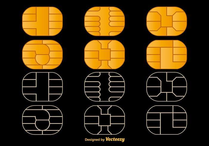 Microchip Vector Pictogrammen