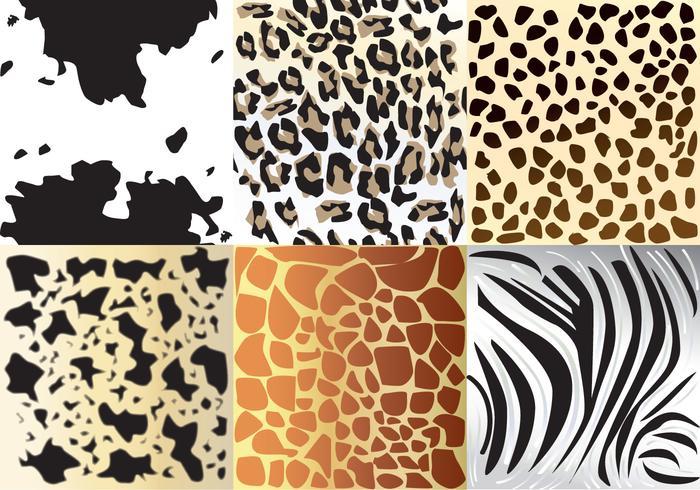 Dierlijke texturen vector