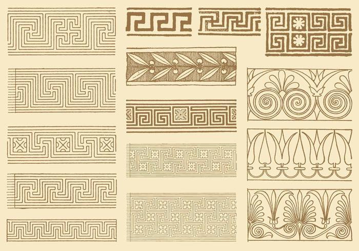 Oude Griekse Sleutels vector