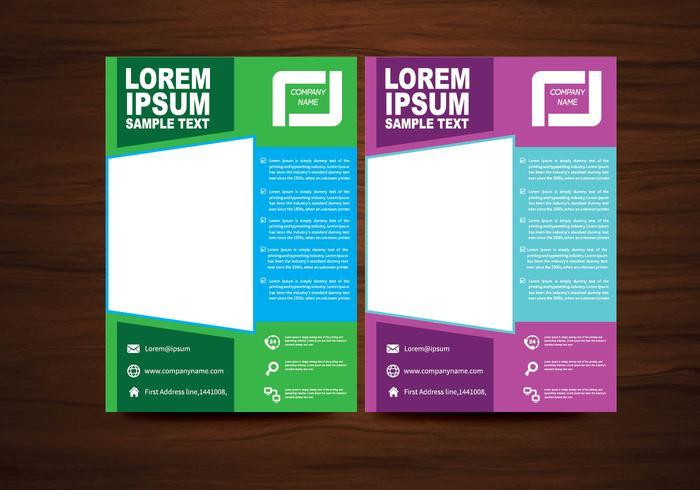 Vector brochure folders ontwerp vector