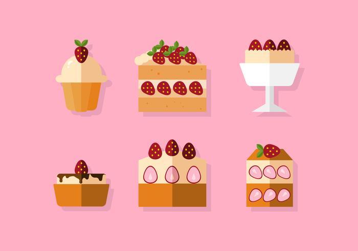 Vector aardbeien shortcake