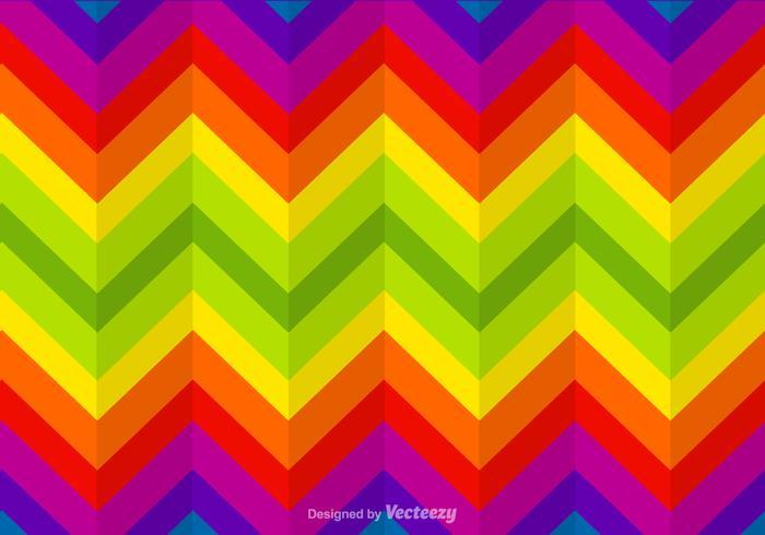 Gratis Zigzag Rainbow Vector Achtergrond