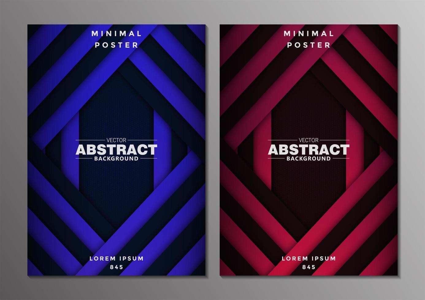 set van abstracte minimale covers ontwerp vector