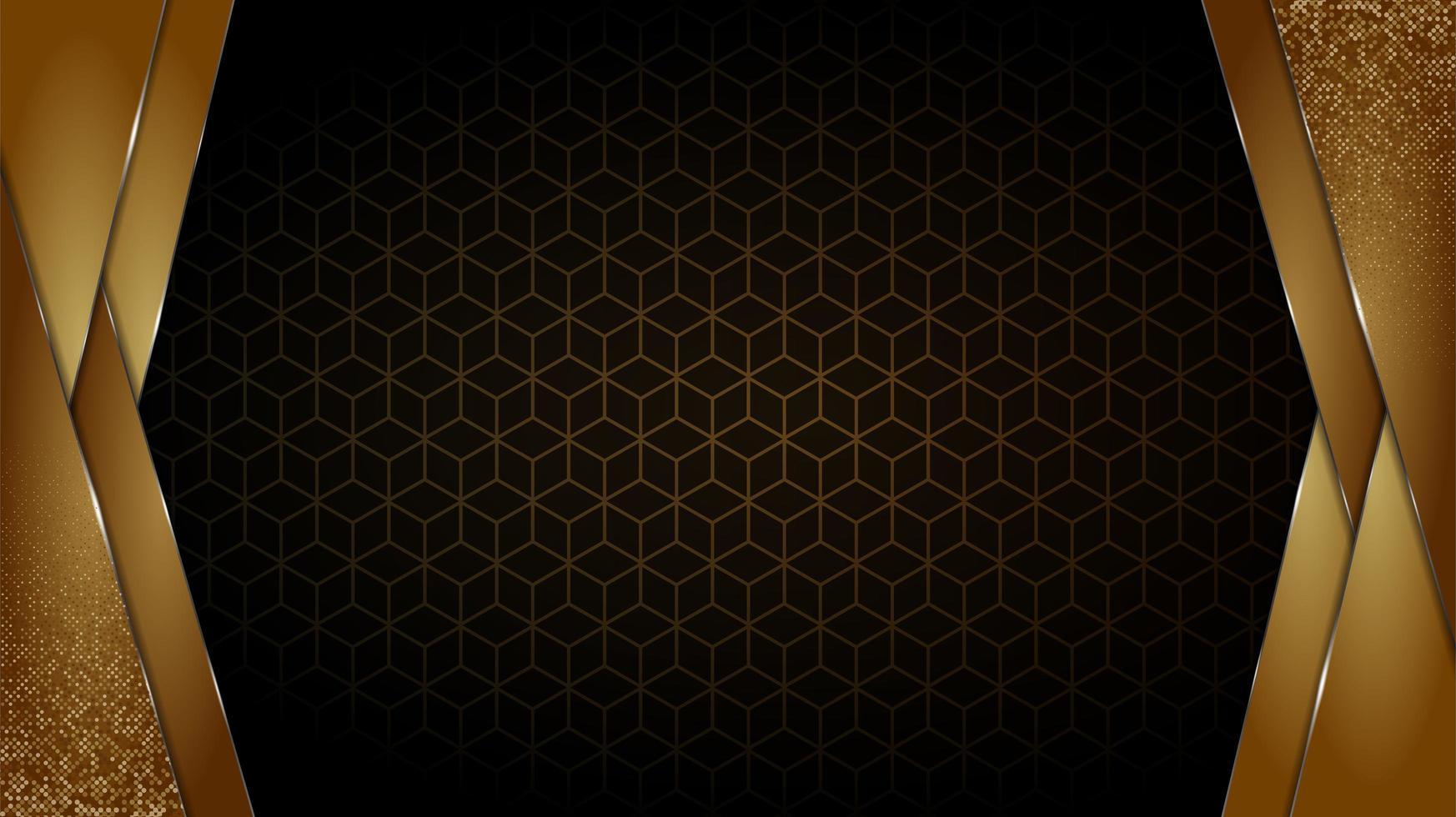 zwart en goud luxe achtergrond vector