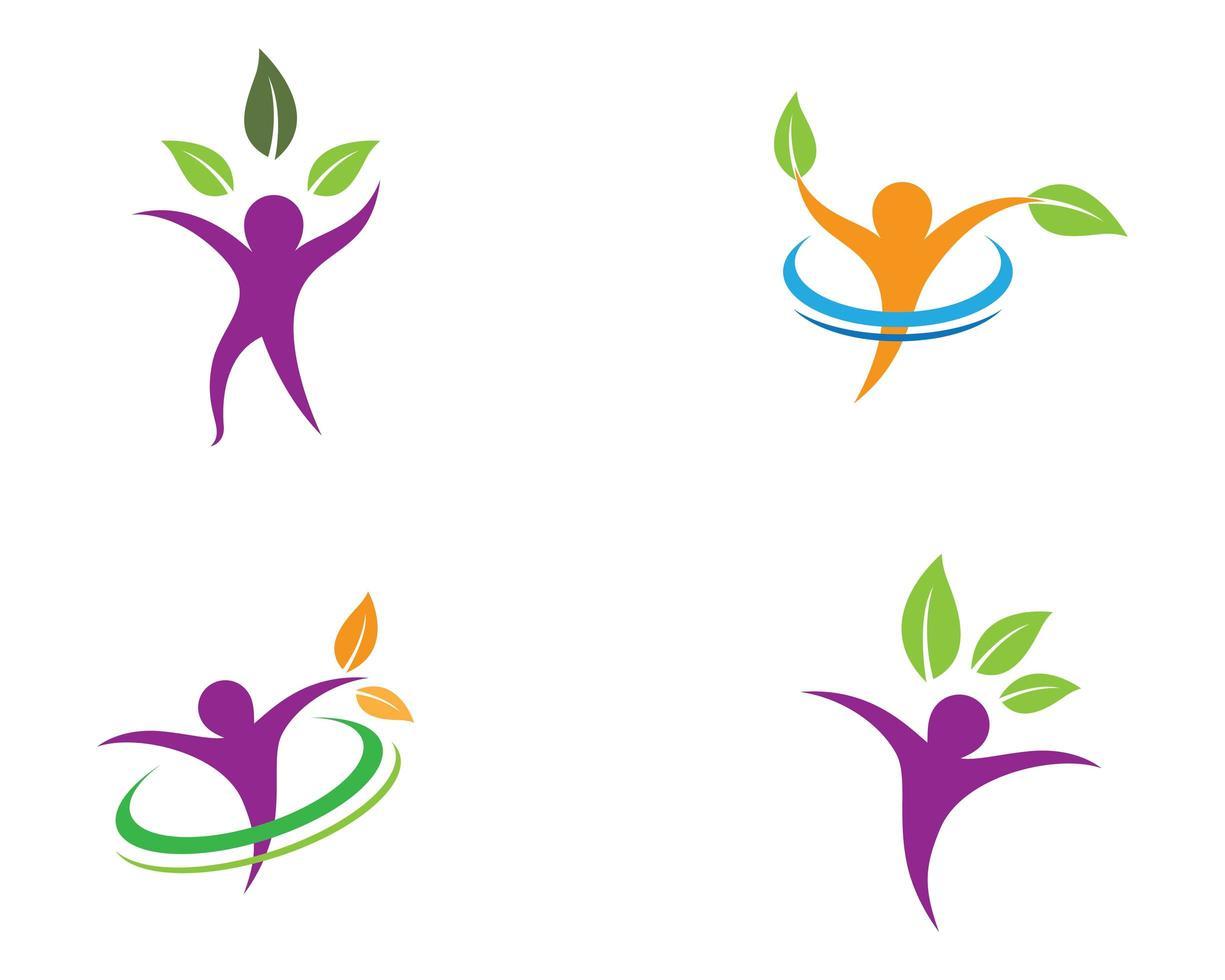 kleurrijk symbool van de menselijke gezondheid vector