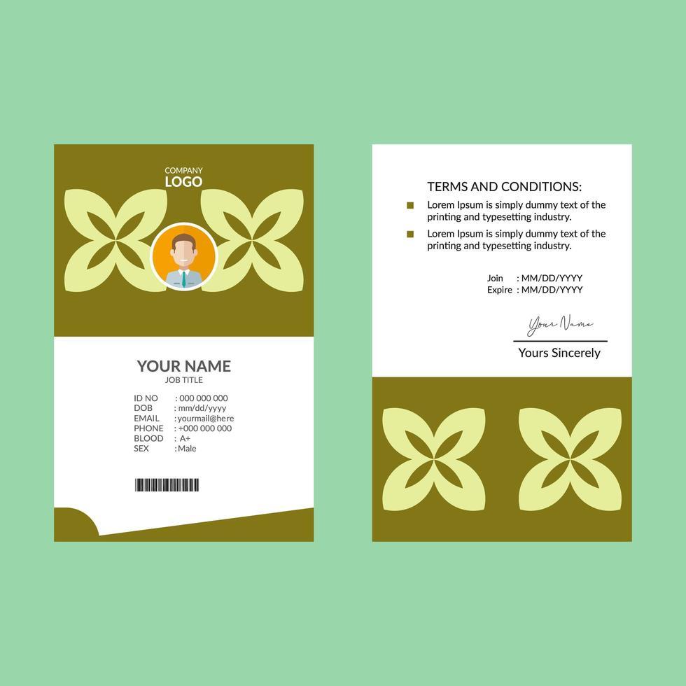 identiteitskaartsjabloon vector