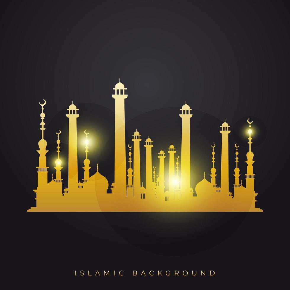 ramadan kareem-moskee vector