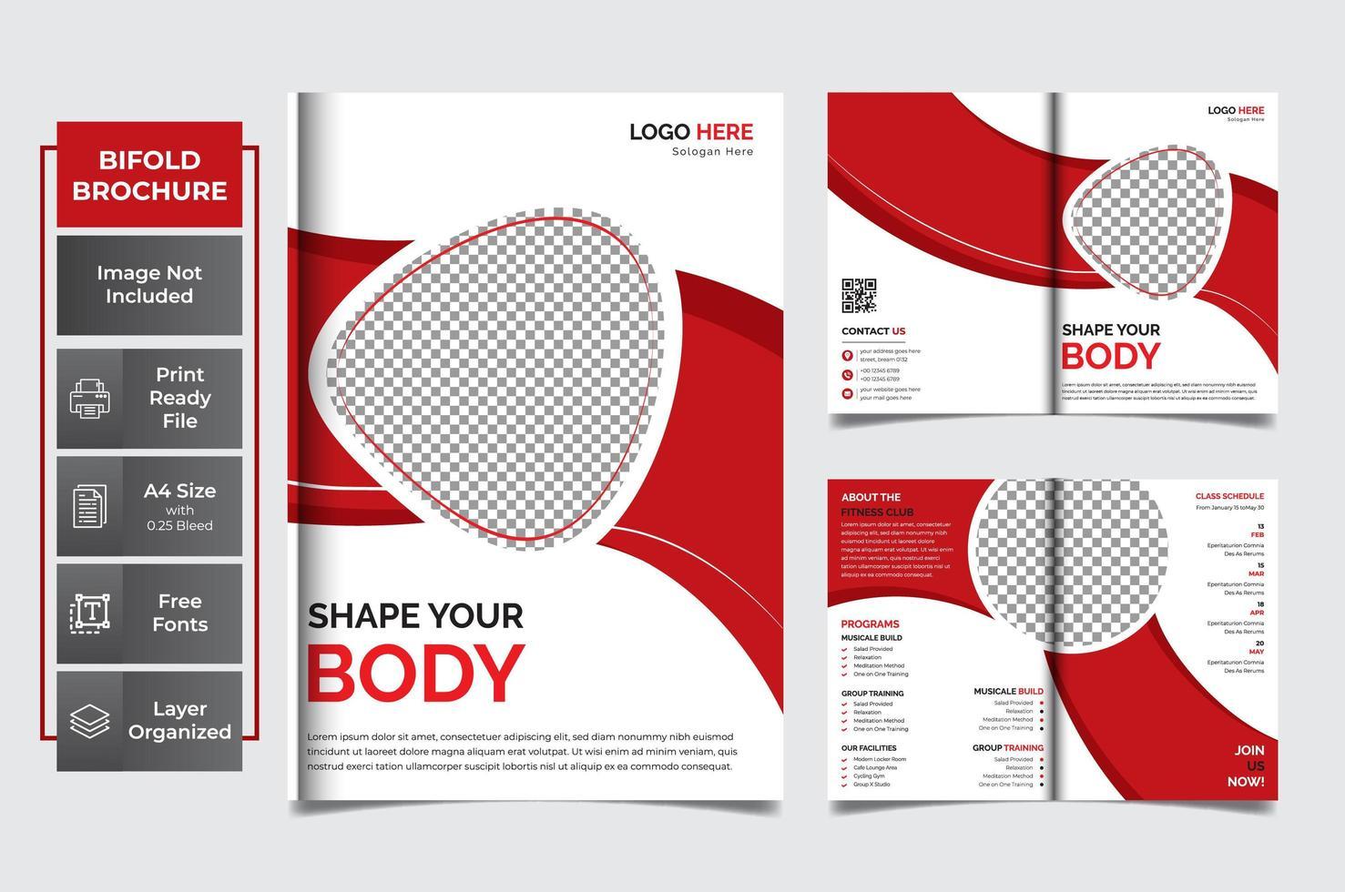 8 pagina's creatief multifunctioneel vector