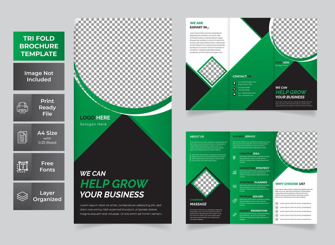 moderne zakelijke gevouwen brochure vector
