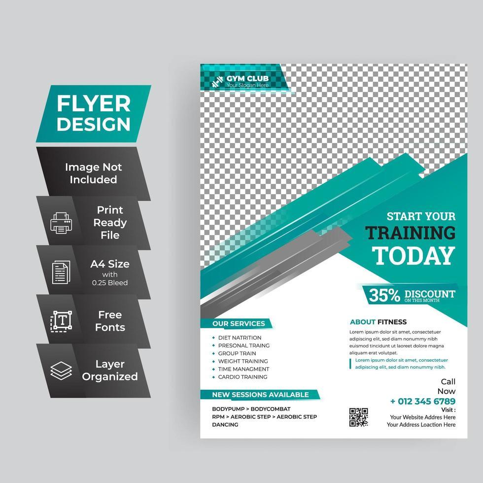 blauwe zakelijke flyer vector