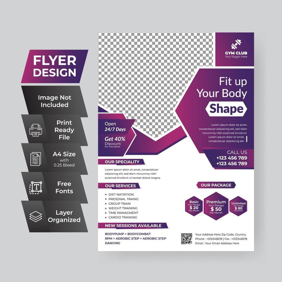 paarse zakelijke flyer vector