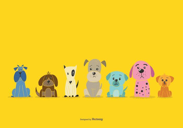National Dog Week Dog Vectors