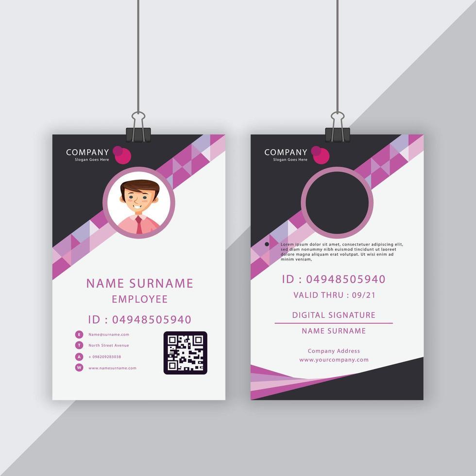 grijze en roze geometrische vorm bedrijfsidentiteitskaart vector