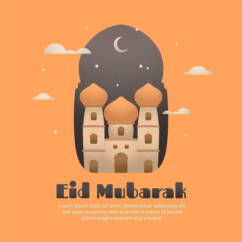 korrelige schaduw eid mubarak groet poster of banner vector