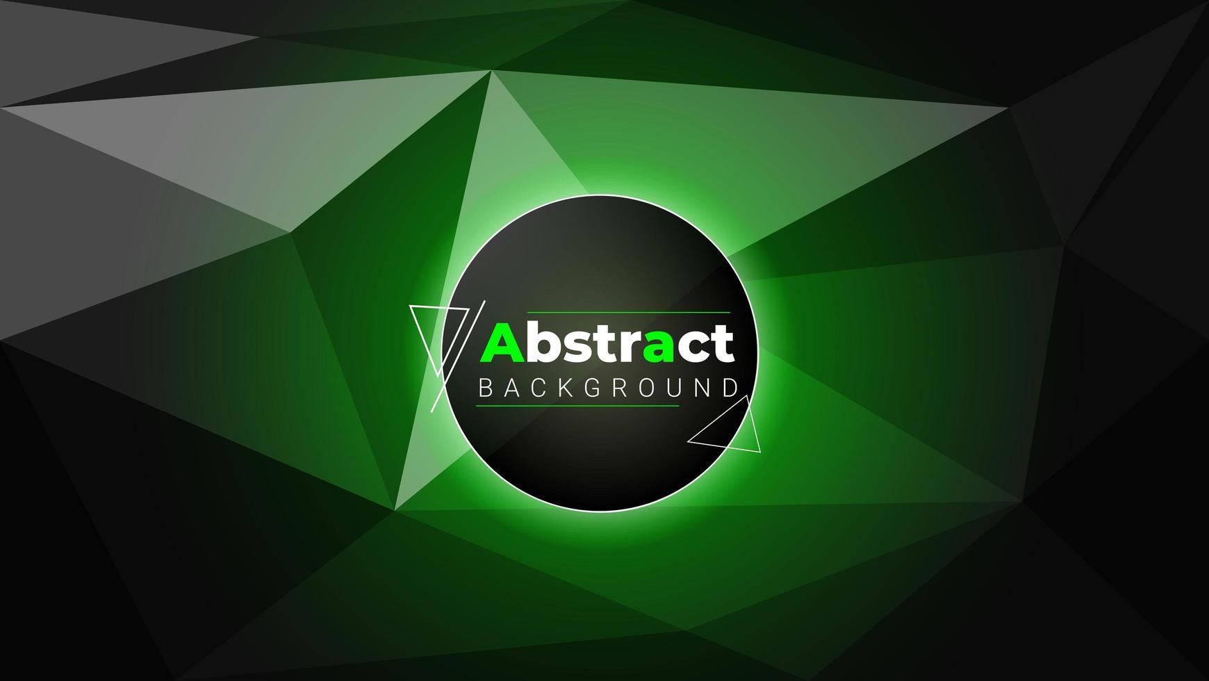 gloeiend groen en zwart veelhoekontwerp vector