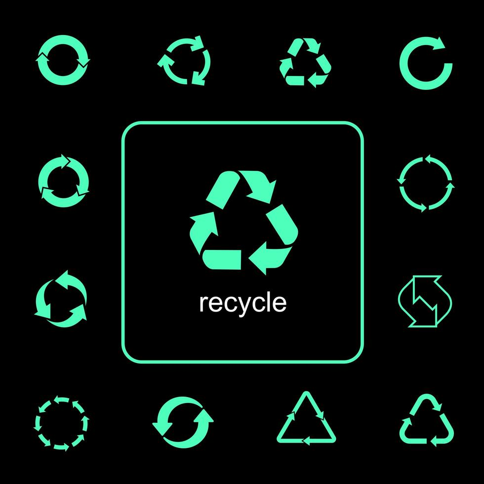 multifunctionele recycling pictogrammen instellen vector