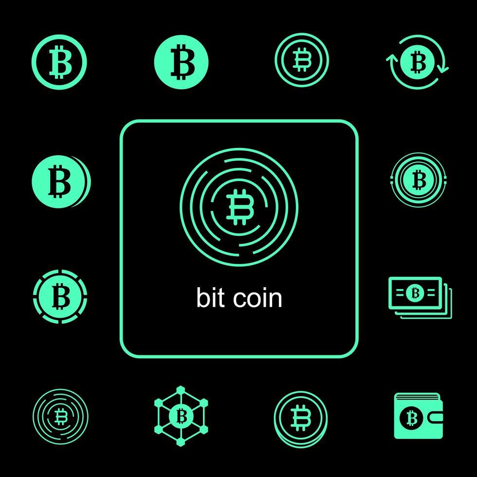bitcoin pictogramserie vector