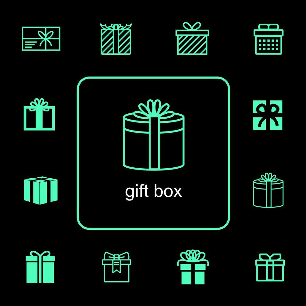 cadeau iconen voor evenementen set vector