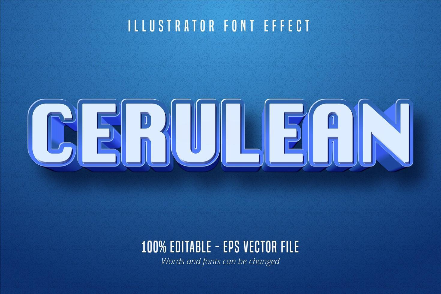 cerulean tekst lettertype-effect vector