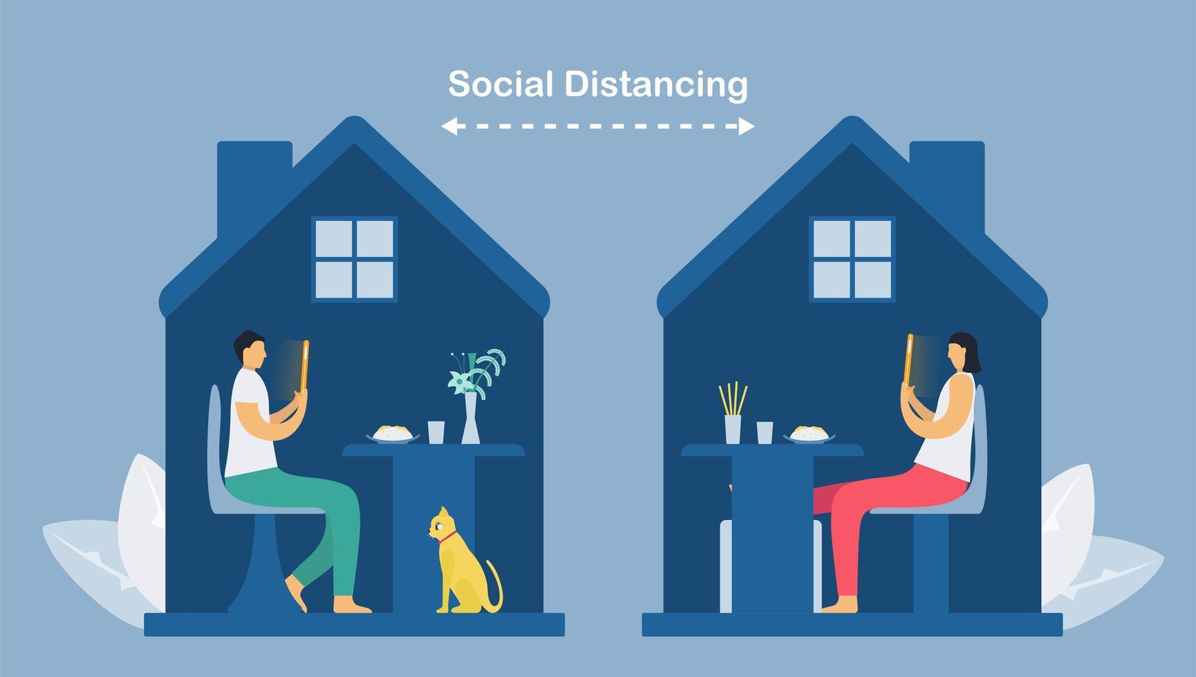 online communicatie met smartphonetechnologie vector