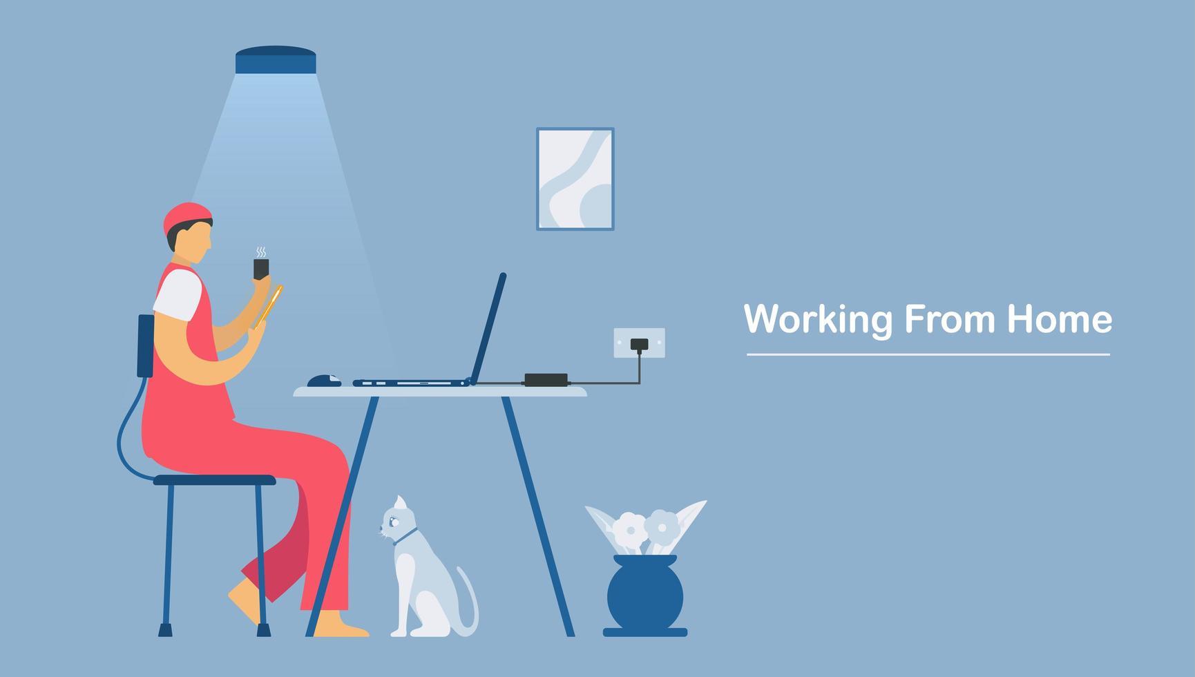 videoconferentiegesprekken met laptop of smartphone vector