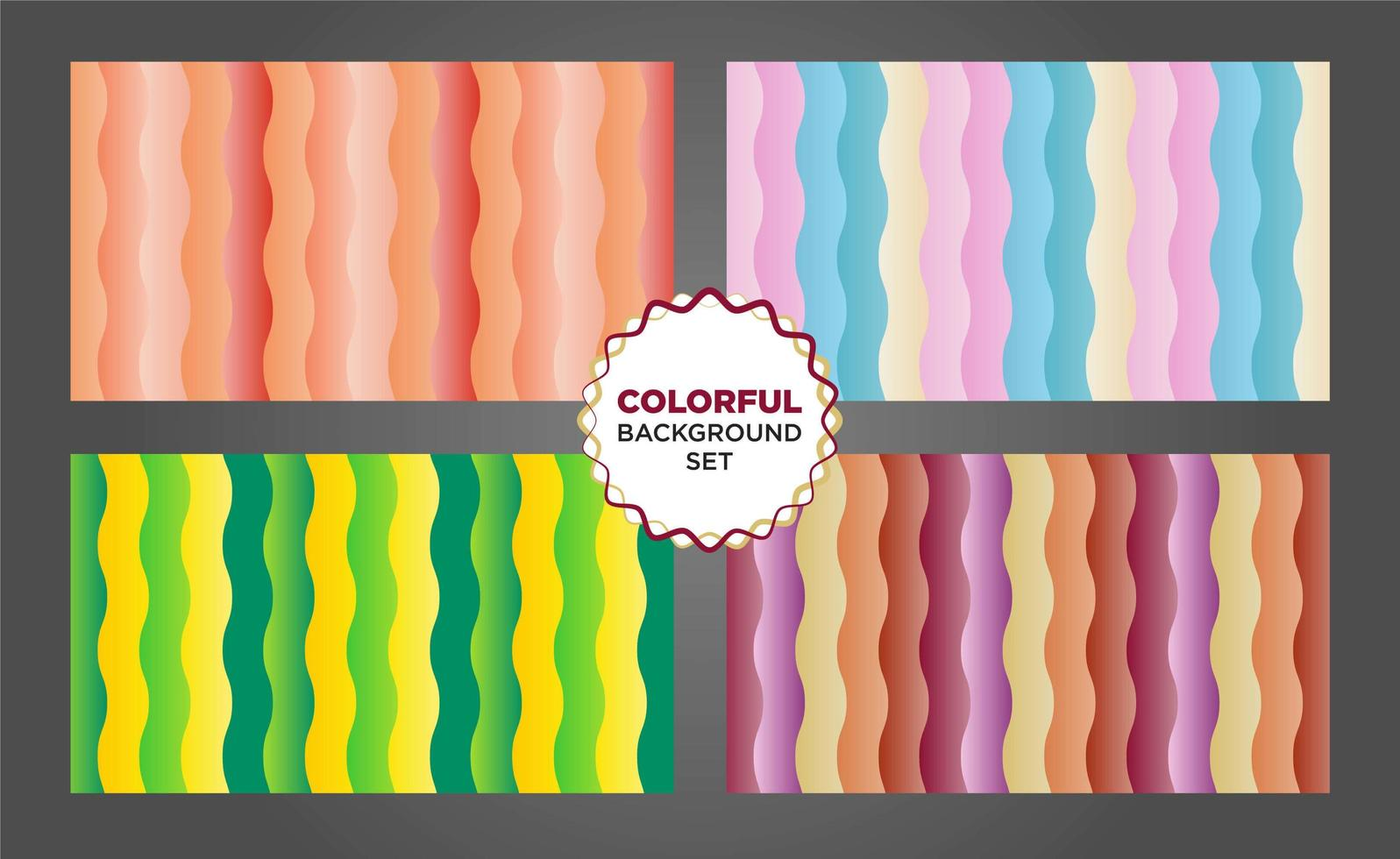 kleurrijke verticale golvende vorm achtergrond instellen vector