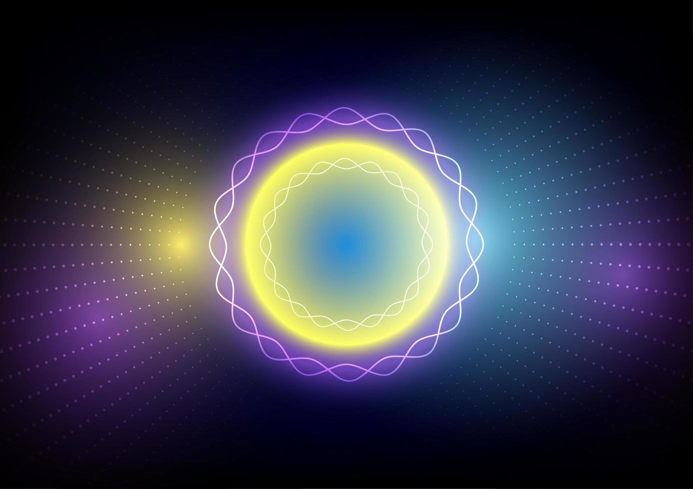 abstract kleurrijk licht cirkel verbeelding ontwerp vector