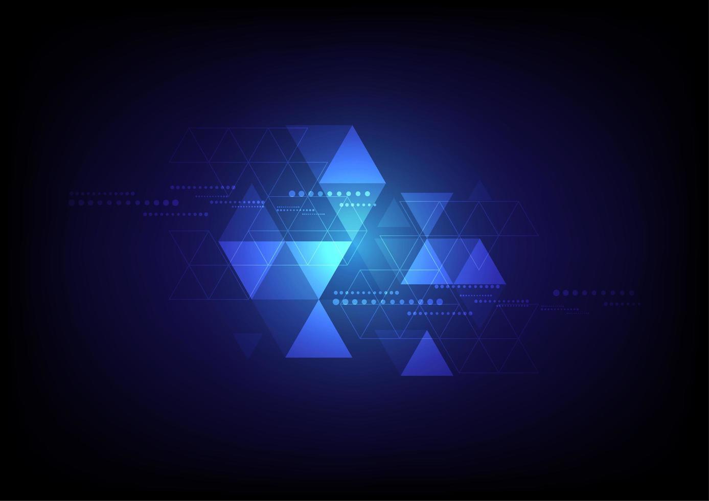 blauwe gloeiende driehoek achtergrond vector