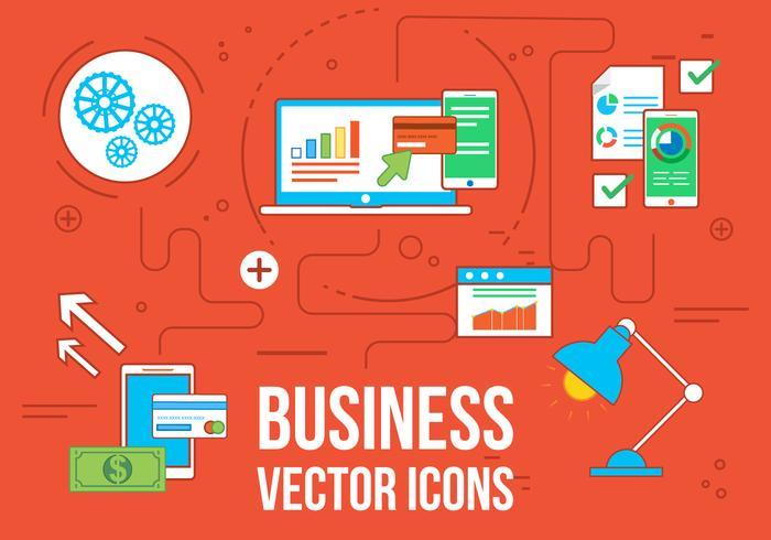Gratis Vecor Business en Web Pictogrammen vector