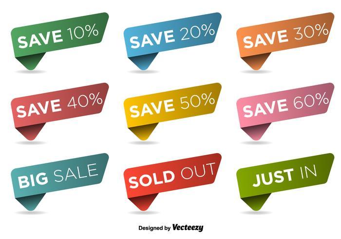 Discount labels vector set