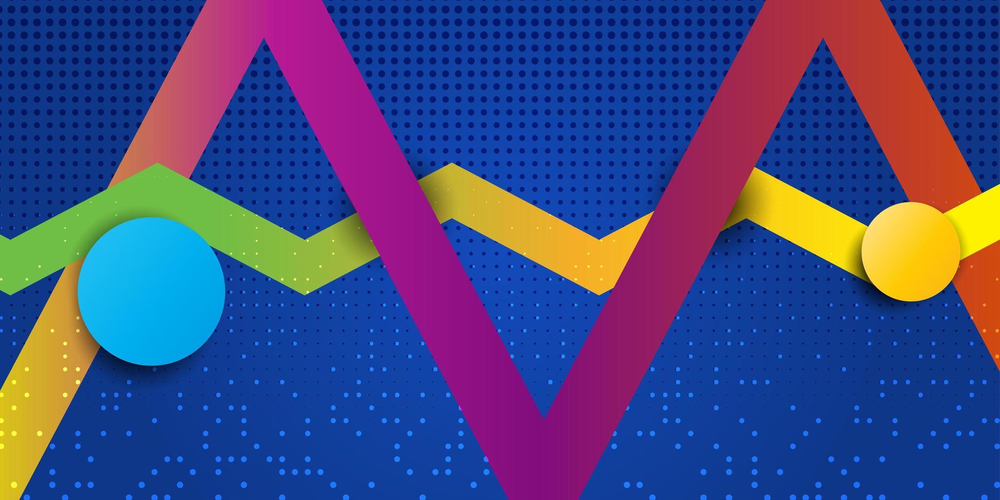 abstracte geometrische banner vector