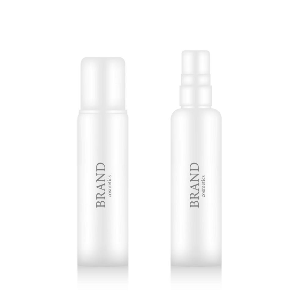 realistisch merk cosmetische sprayfles mockup vector