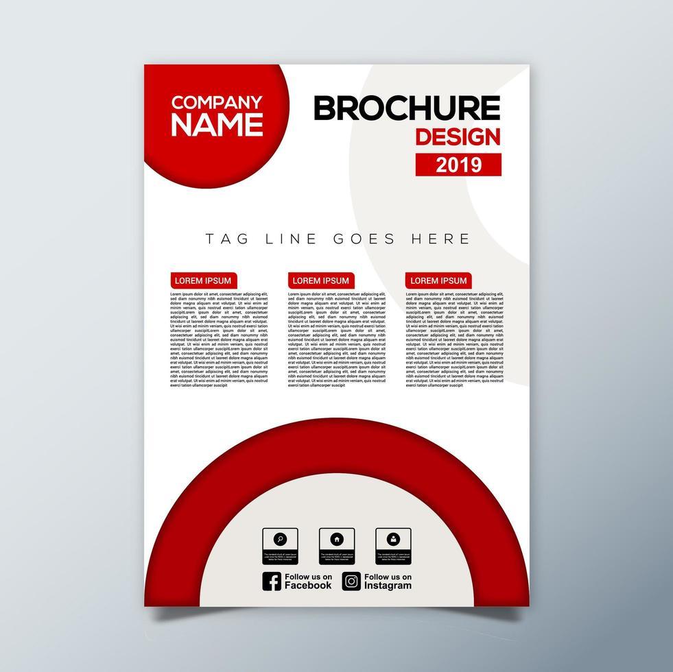 rood grijs zakelijke brochure sjabloon vector
