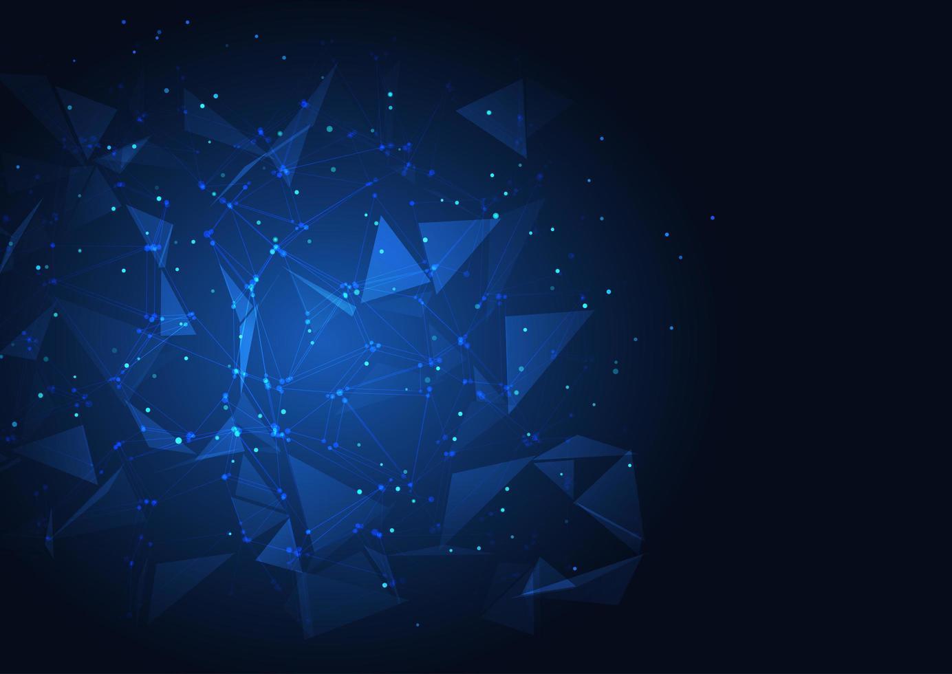 blauw techno laag poly ontwerp vector
