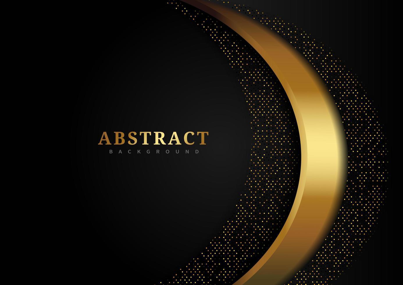 luxe achtergrond met gouden gittering curven vector