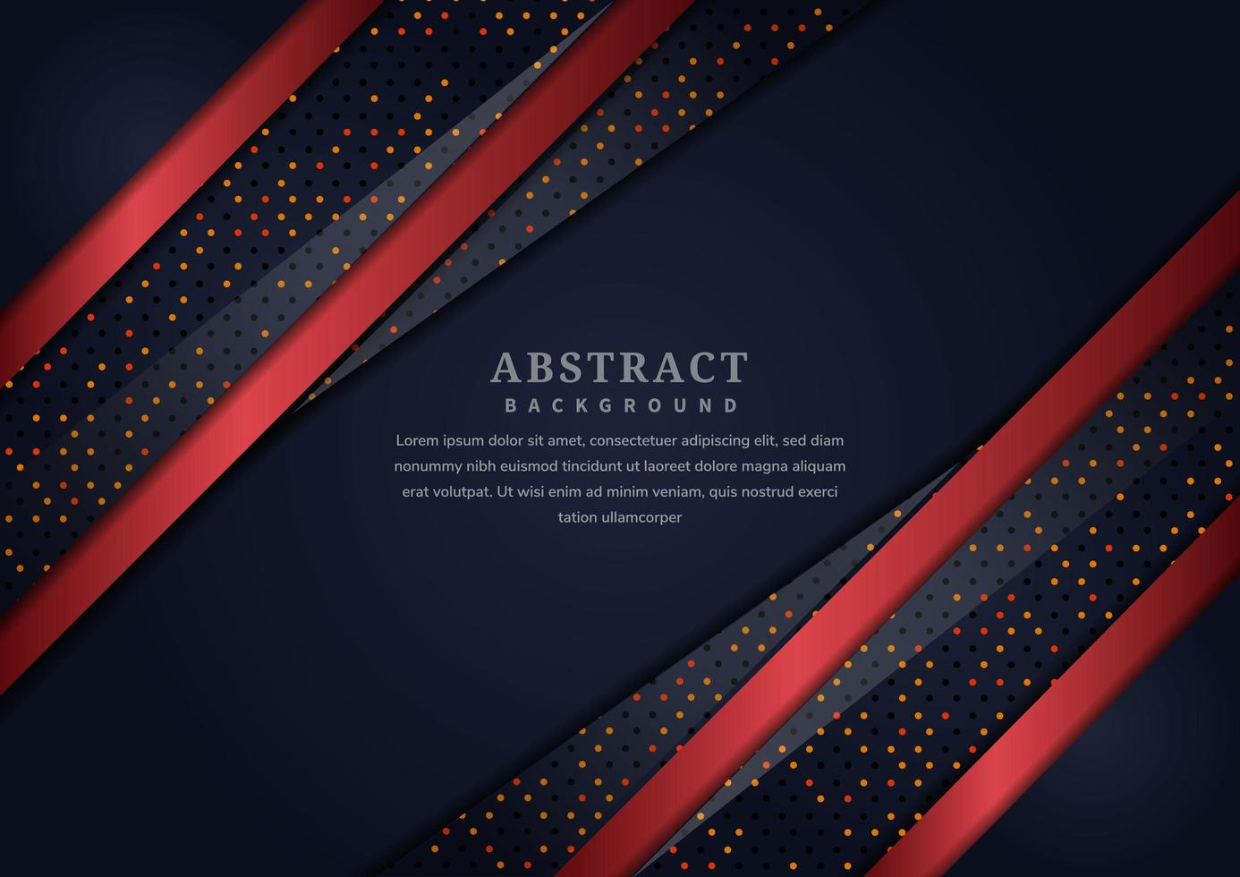 luxe zwarte achtergrond met rode diagonale lijnen met rode stippen vector