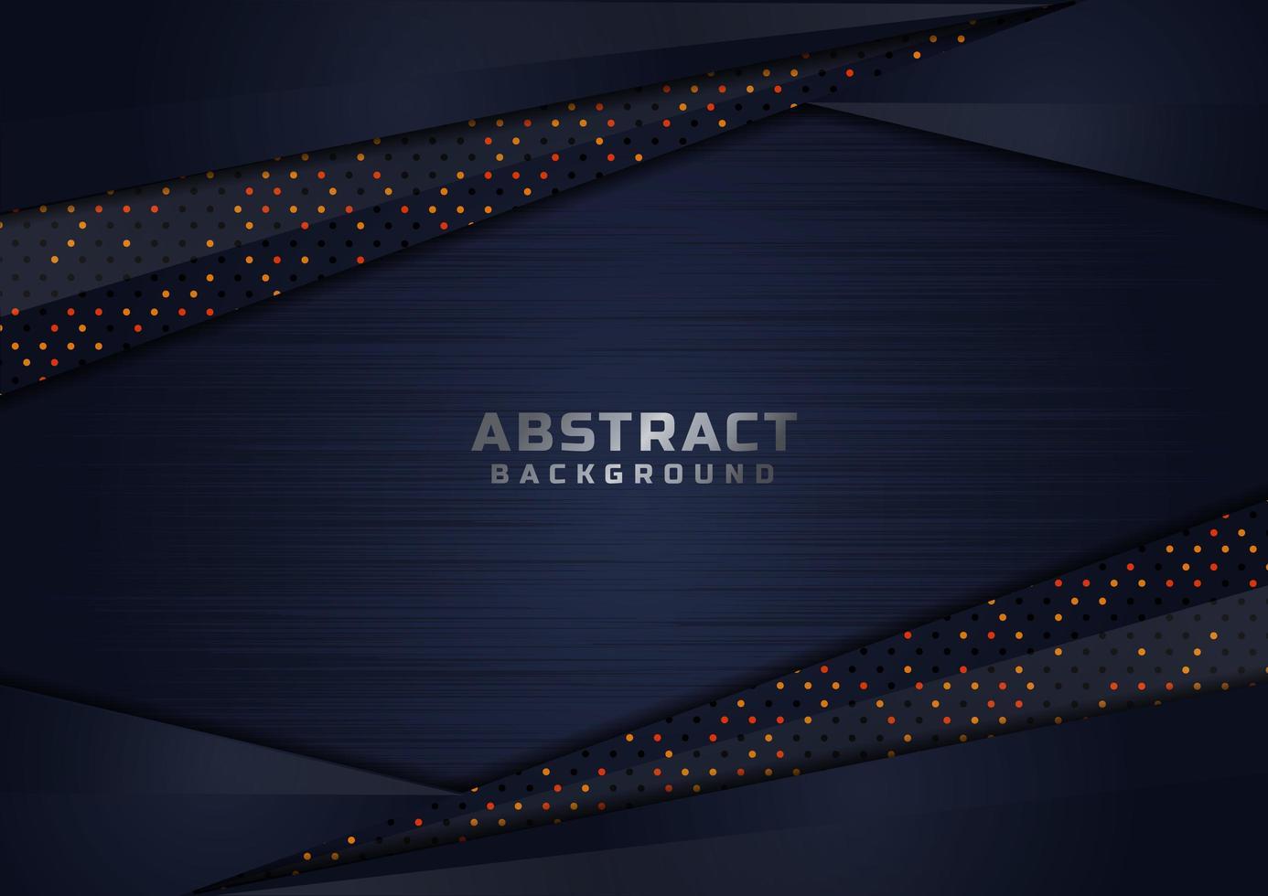 abstracte donkerblauwe overlappende glinsterende vormen luxe achtergrond vector