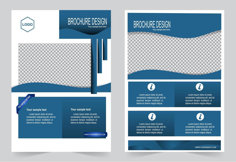 poster in blauw voor omslag brochureontwerp vector