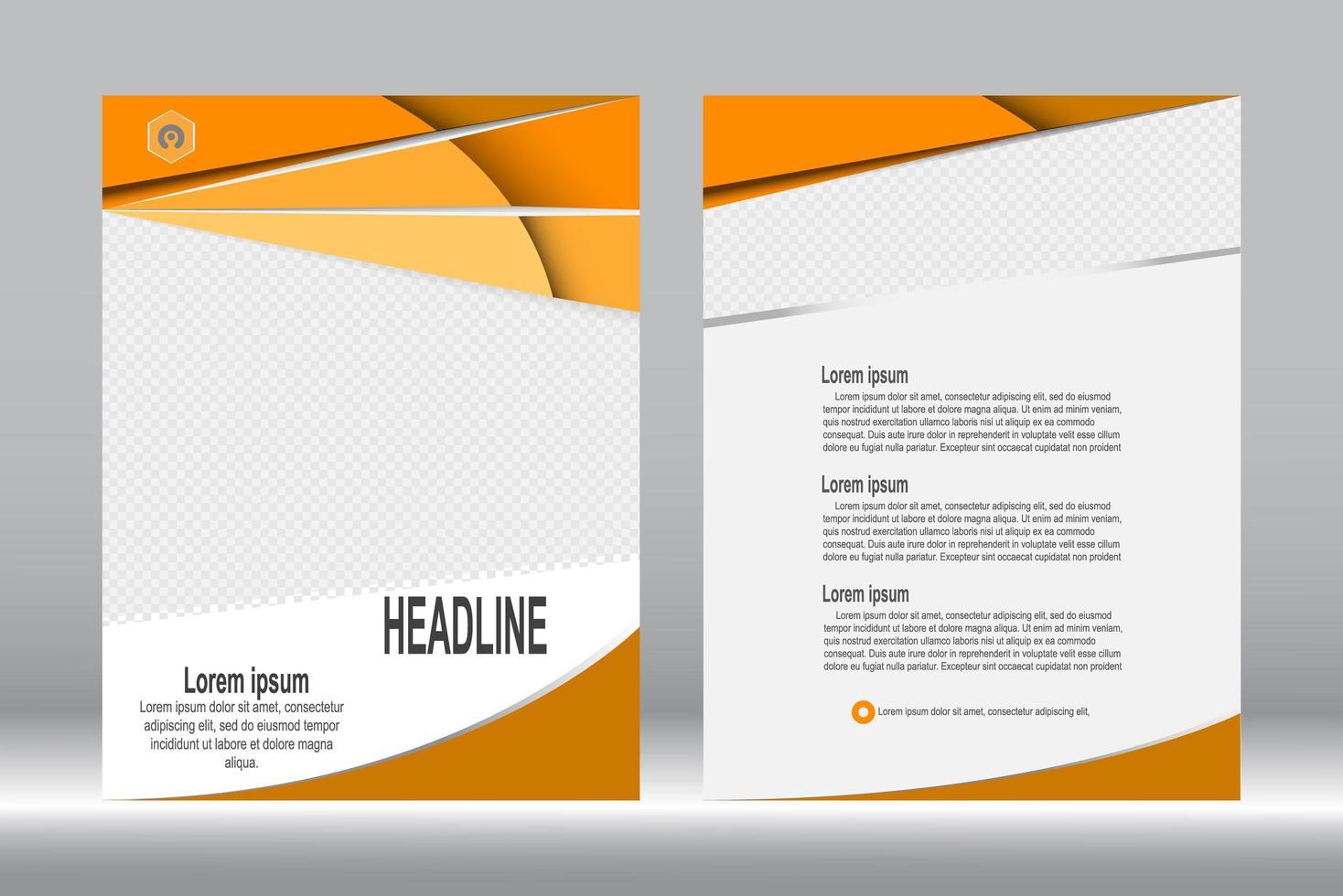 oranje voorblad brochure sjabloon vector