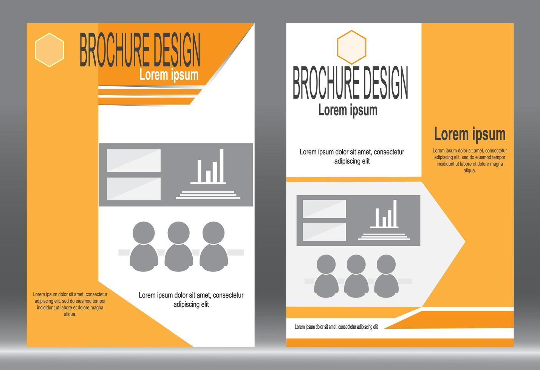 oranje cover flyer ontwerpset vector