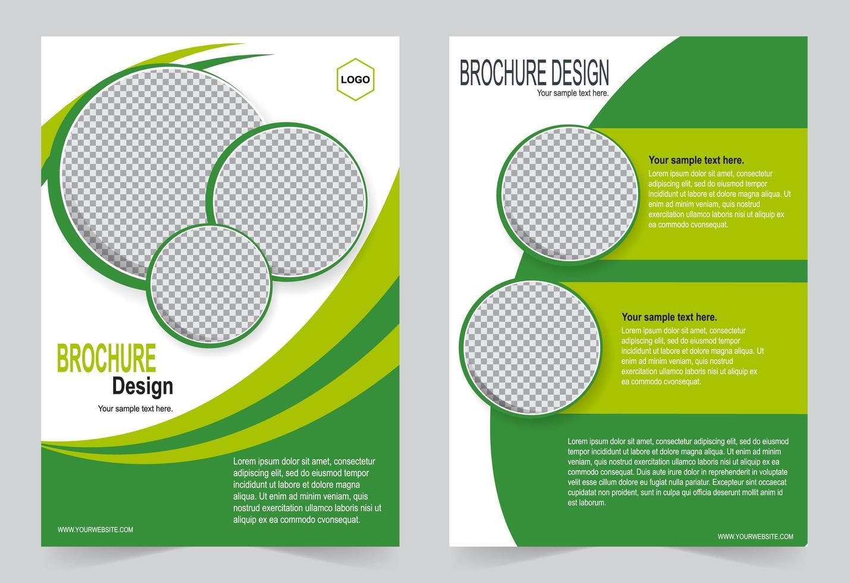 groene kaft met cirkel afbeelding ruimte vector