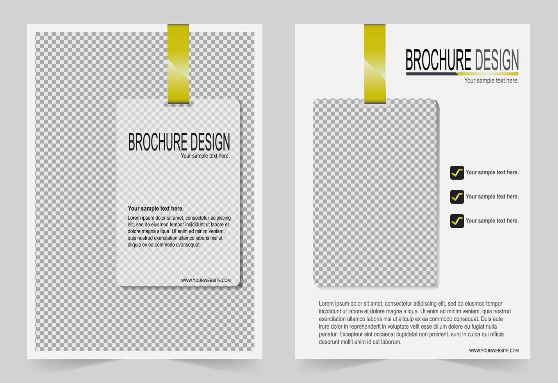 cover flyer ontwerp witte sjabloon. vector