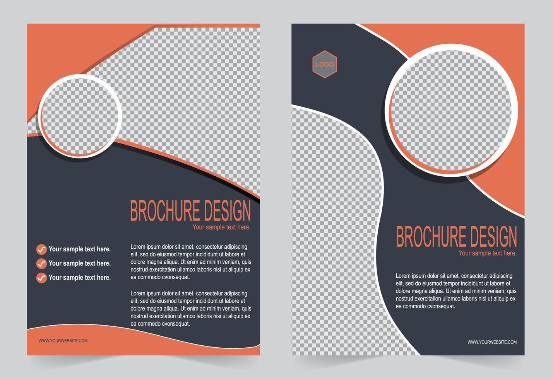 oranje voorbladsjabloon set. vector