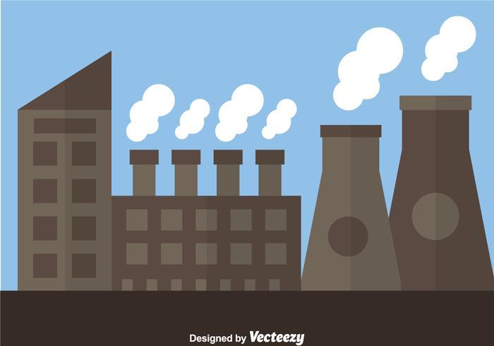 Kernreactorfabriek vector