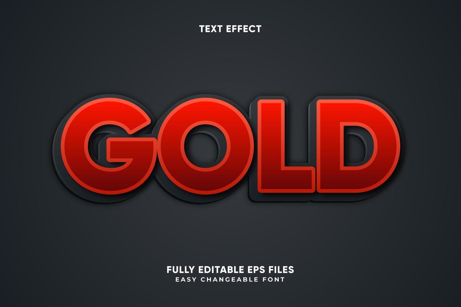 vet rood teksteffect vector