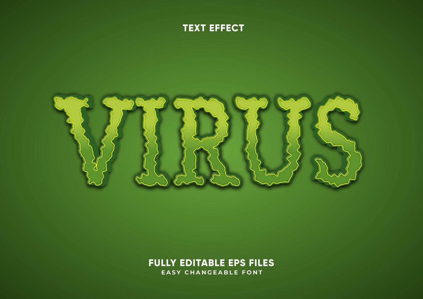groen ruw virusteksteffect vector