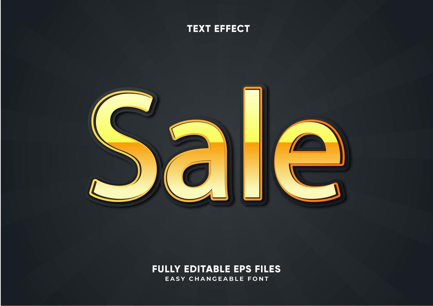 goud metallic teksteffect vector