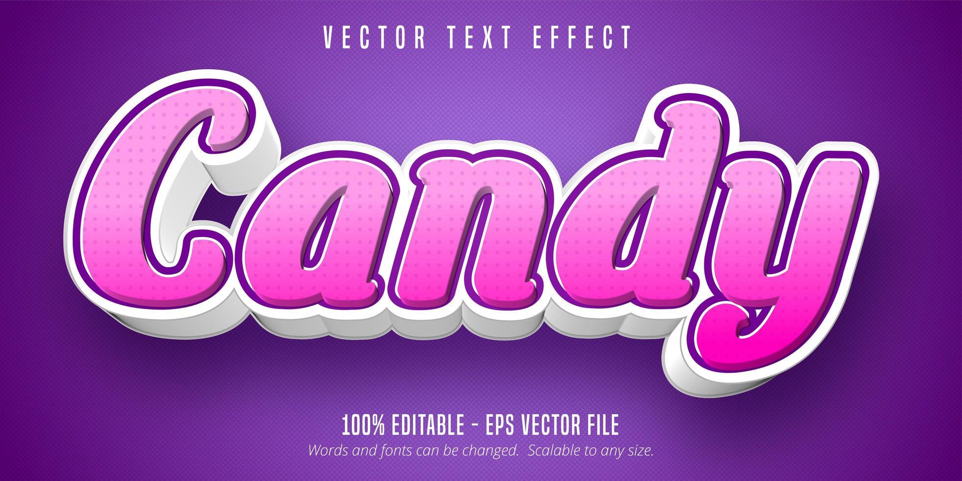 snoep roze cursief teksteffect vector