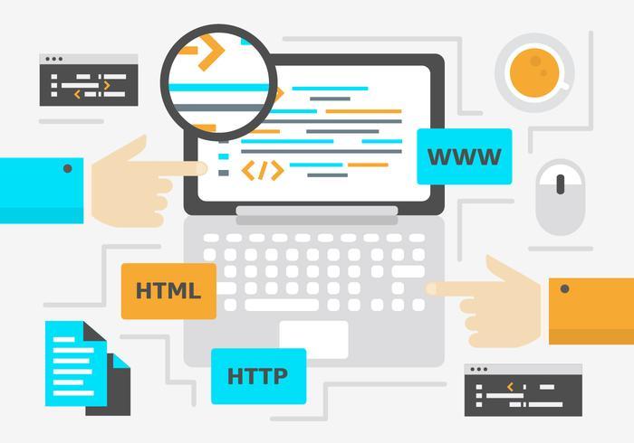 Gratis Digitale Marketing Achtergrond vector